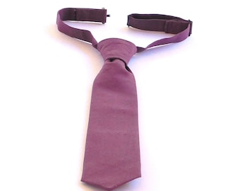 Adjustable pre-tied  linen necktie, pink, purple, beige, many colors available