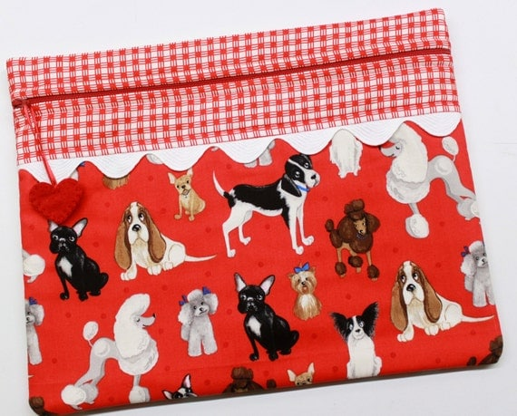 K-9 Cuties Dogs Cross Stitch Embroidery Project Bag