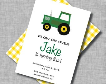 Tractor Birthday Invitation | Tractor Birthday | Farm Birthday Invitation | Farm Birthday Party | Farm Invitation | John Deere Birthday
