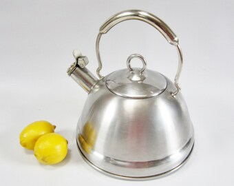 Vintage Kettle Teapot STAINLESS STEEL Professional Quality KOREA