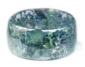 Blue Flower Jewelry- Real Flower Jewelry- Blue Bangle- Blue Flower Jewelry- Resin Jewelry- Flower Bangle- Flower Resin Bracelet