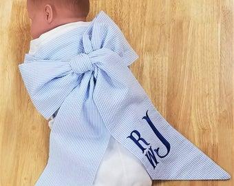 Swaddle Sash Personalized Baby Sash Monogrammed Newborn Photo Prop