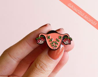 SECONDS Uterus Enamel Pin Feminist Enamel Pin- Blooming Uterus Feminist Gift Cuterus Women' Rights Reproductive Rights Girl Power Art