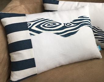 Nautical Pillow Navy and White Pillow // Nautical Decor // Nautical Home Decor // River Pillow 2