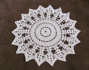 "Doily Handmade Vintage Crocheted Doily 9"" Inch Round (#2B)"