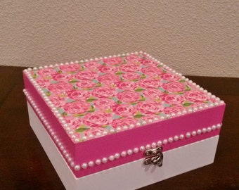Lilly Pulitzer FIRST IMPRESSIONS Jewelry Box Desk Accessory by Mama Duck Creations