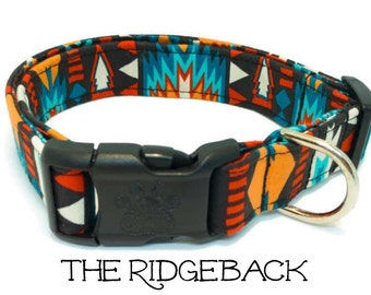 Navajo Dog Collar, Southwest Dog Collar, The Ridgeback, Aztec Dog Collar, Puppy Gift, Dog Gift, cool collar, Matching Leash Available