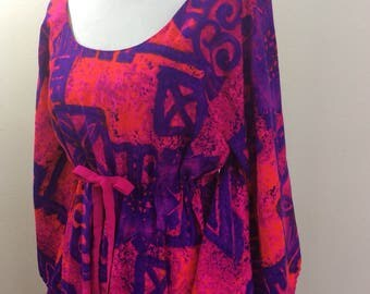 Juliet sleeved Hawaiian dress