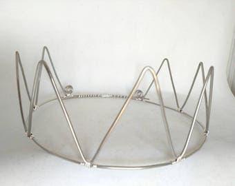 Silver Crown - Wire Crown - Bridal Crown - Mens Crown - Boy Crown  - Simple Crown - Pointed Crown - King and Queen Crown - King Costume