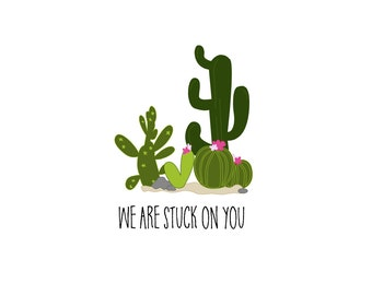 DIY We are Stuck on You Valentine's Day Tag