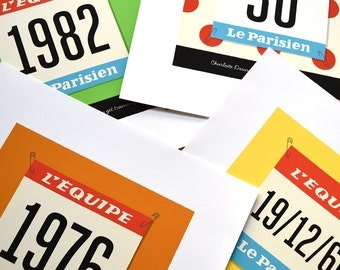 PERSONALISED Cycling Race Number, Customisable Jersey, Number and Text