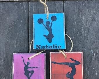 Dance, Cheer, Gymnastics Wood Ornament