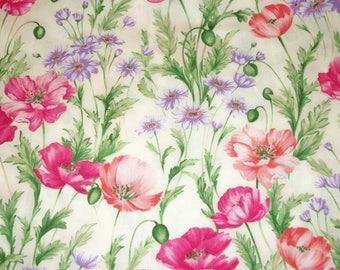 Quilting Fabric, By The Yard Fabric, Flower Fabric, Benartex Fabrics, Sundance Collection, Sewing Craft Fabric, Novelty Fabric, Summer