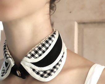 Detachable collar necklace, black collar, shirt collar, removable collar