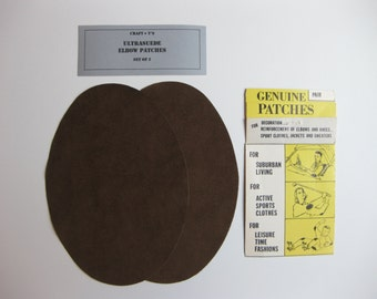 Elbow Patches - Brown Ultrasuede - Set of 2