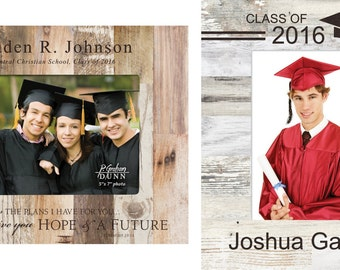 Personalized Graduation Photo Frame - Engraved Graduate Wood Friends Picture Frame - Pallet Frame - Graduation Gift
