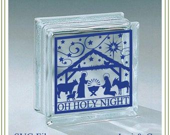 Nativity SVG, Christmas Glass Block svg, Nativity Scene, Glass Block SVG cut file, Glass Blocks, vinyl cutting, cards,  Christmas crafts