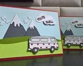 Hippy Valentine Card, VW Van Valentine's Day Card, You're Swell Card, Happy Valentine's Day, Volkswagen Van Card
