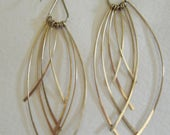 Gold Dangle Earrings Long// Light weight Jewelry