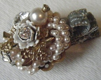 Jeweled Hair Clip//One of a Kind Accessory