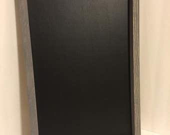 Large Weathered Gray Chalkboard Sign