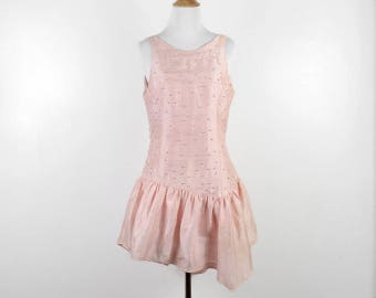 Vintage 1980s does 1920s Pink Silk Dress