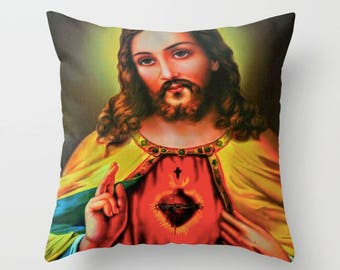 Jesus Christ Pillow, Jesus Christ gift, Christian gift, Catholic gifts, Baptism gift, religion gifts, Gift for grandmother, Religious décor