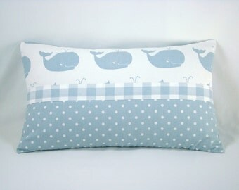 Premier Whale Tales Decorative Accent Toss Pillows  Blue Pillow Whale Pillow 10x18 Pillow Cover Only