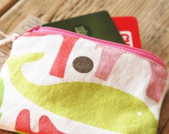 Pink Animals Pouch - Change Purse - Wallet - Zipper Pouch