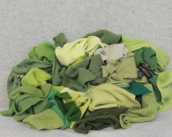 Recycled Cashmere Remnants - Lime Green 16oz