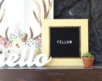 Letter Board - 13''x13'' -Felt - Changeable Plastic Letters.
