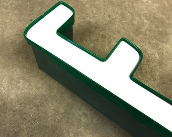 F - Reclaimed vintage letter - NEW - greenery - large
