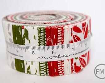 Merrily Jelly Roll, Gingiber, Moda Fabrics, Pre-Cut Fabric Strips, 48210JR