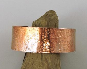 Hammered Copper Cuff, Rustic Copper Bracelet, Metalwork Jewelry, Copper Jewelry