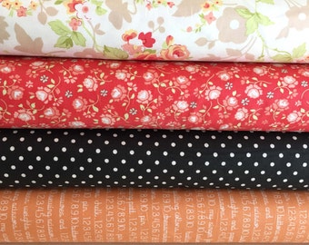 Chestnut Street Fabric Bundle of 4, by Fig Tree Quilts of Moda Fabric,