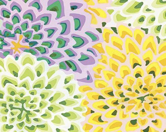 Fabric by the Yard -Dahlia Blooms--Kaffe Fassett for Westminster