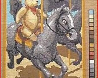 Needlepoint Canvas: Carousel Bear New