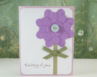 Friend Card Messages - Support Cards - Card To Mom - Cancer Card - Thinking Of You - Blank Cards And Envelopes - Flower Card - Hello