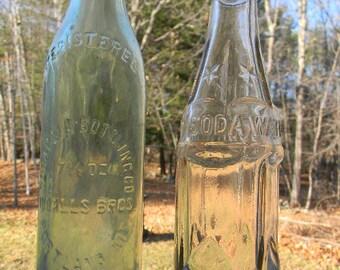 2 Vintage Coca Cola Bottles, Bangor Maine,  Portland Maine