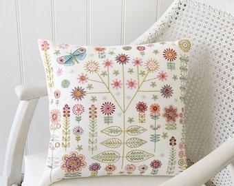 Garden Cushion/Sampler Embroidery Kit