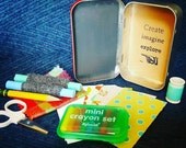 Mini Craft Kit in Chalkboard Tin
