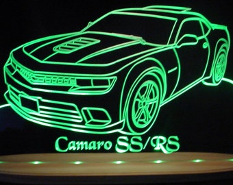 "2015 Camaro SS/RS Acrylic Lighted Edge Lit LED Sign Awesome 21"" 15 VVD1 Full Size Made in Usa"