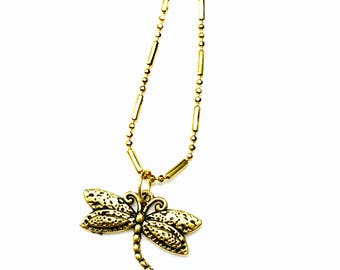 butterfly gold plated necklace