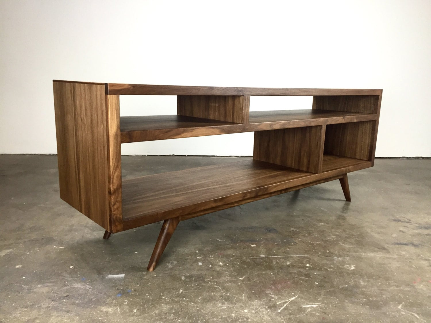the bacon a mid century modern tv console tv. Black Bedroom Furniture Sets. Home Design Ideas