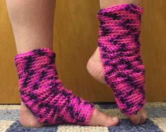 Yoga Socks in Panther Pink - for Dance, Yoga, Pedicures, Pilates.