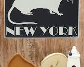 New York Rat-Framed 3D Pop Up- handmade paper art