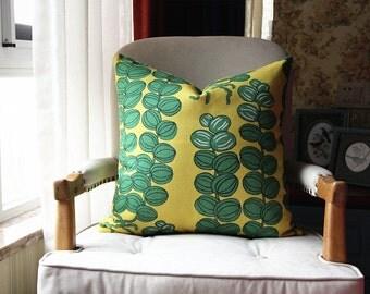 Designer Pillow - Decorative Pillow Cover - Green Caulis pillow - flower stalk Pillow 432