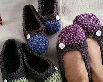Crochet Basic Slipper Womens PDF Pattern Only