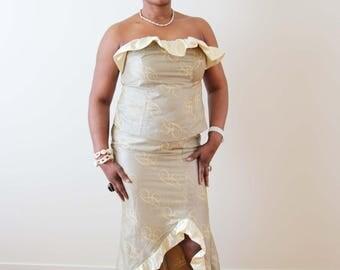 Bustier Top & Mermaid Skirt, Party Dress, Event Dress