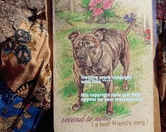 second to none  / American Bandogge/mastiff mix / personalize/ storybook/sentimental /unique empathy condolence/pet sympathy/pet card